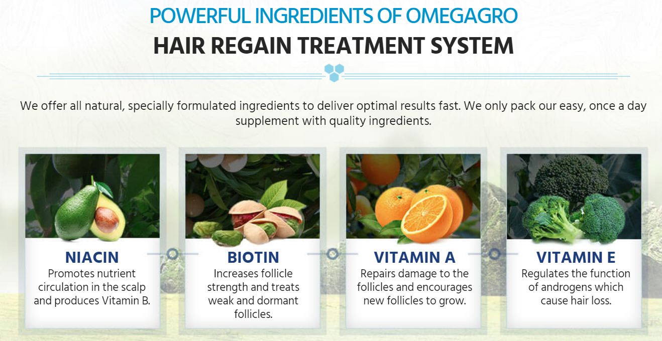 OmegaGro DHT Hair Ingredients