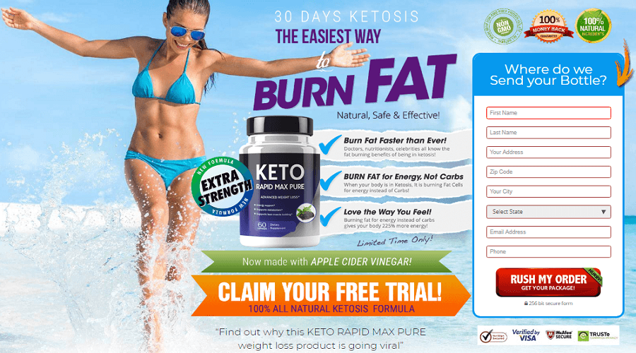 Keto Rapid Max Pure Diet Pills Review Official Website Work Price Us