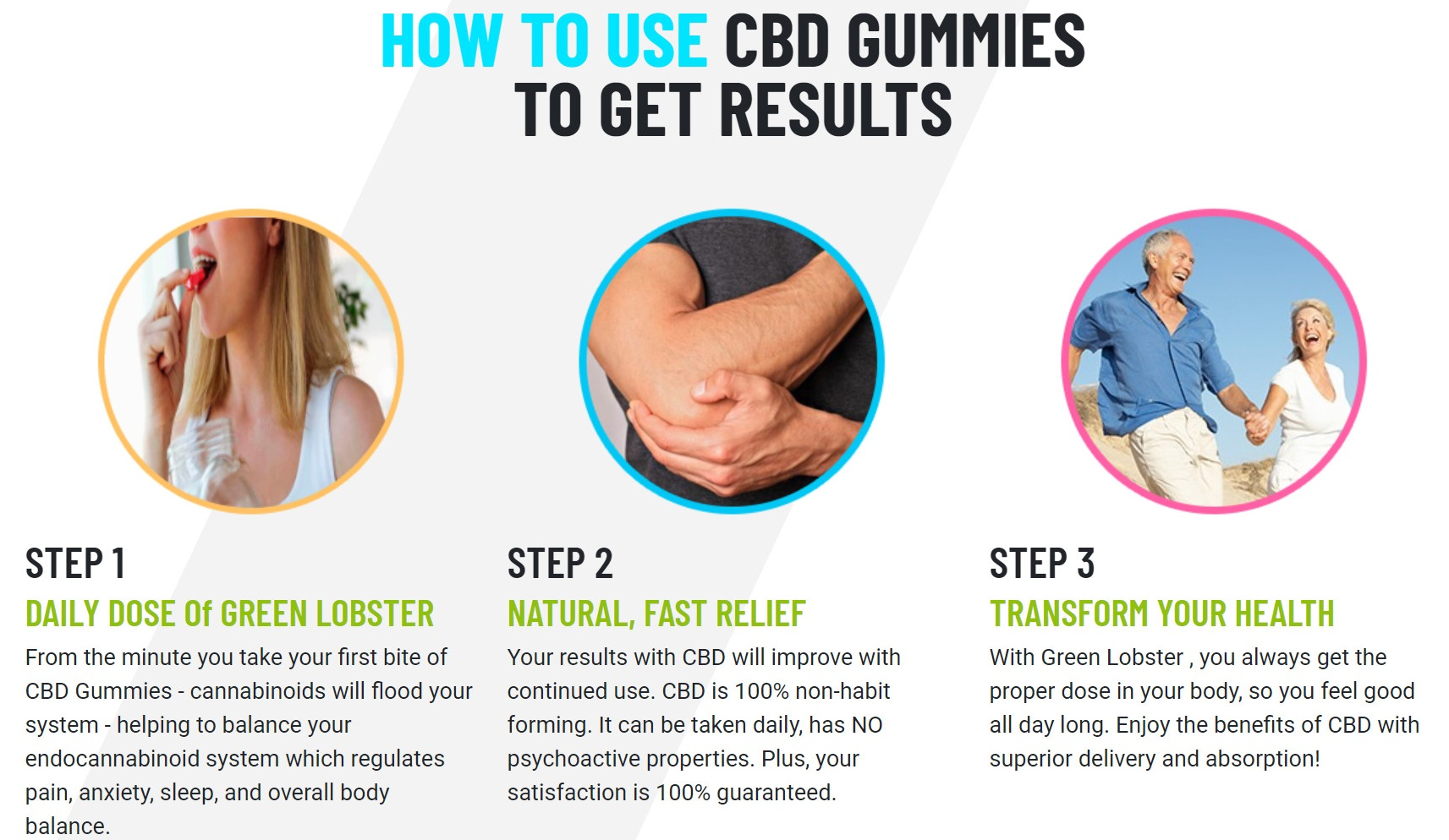 Green Lobster CBD Neon Cubes Gummies How To Use