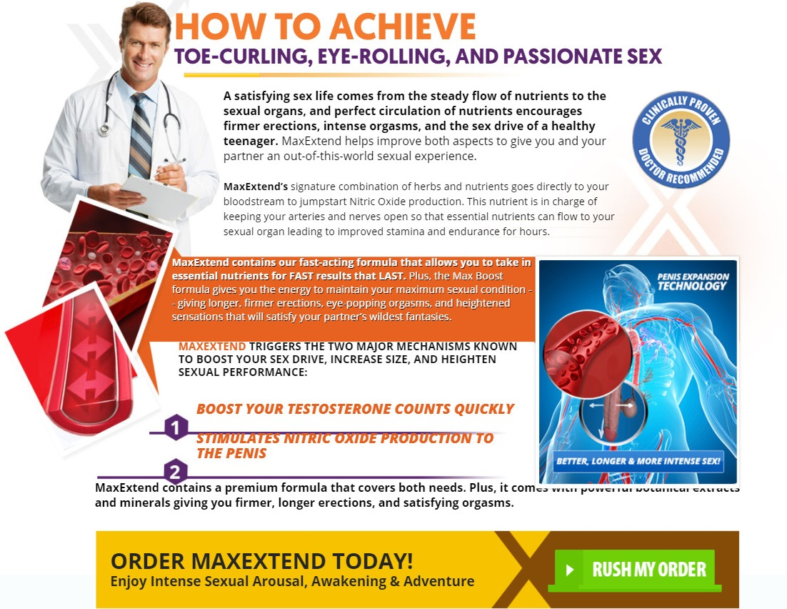 MaxExtend Male Enhnacement Working